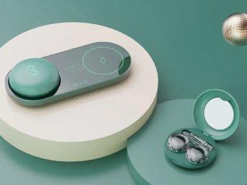 隐形眼镜盒+自动清洗仪+无线充电,潮人都在用!
