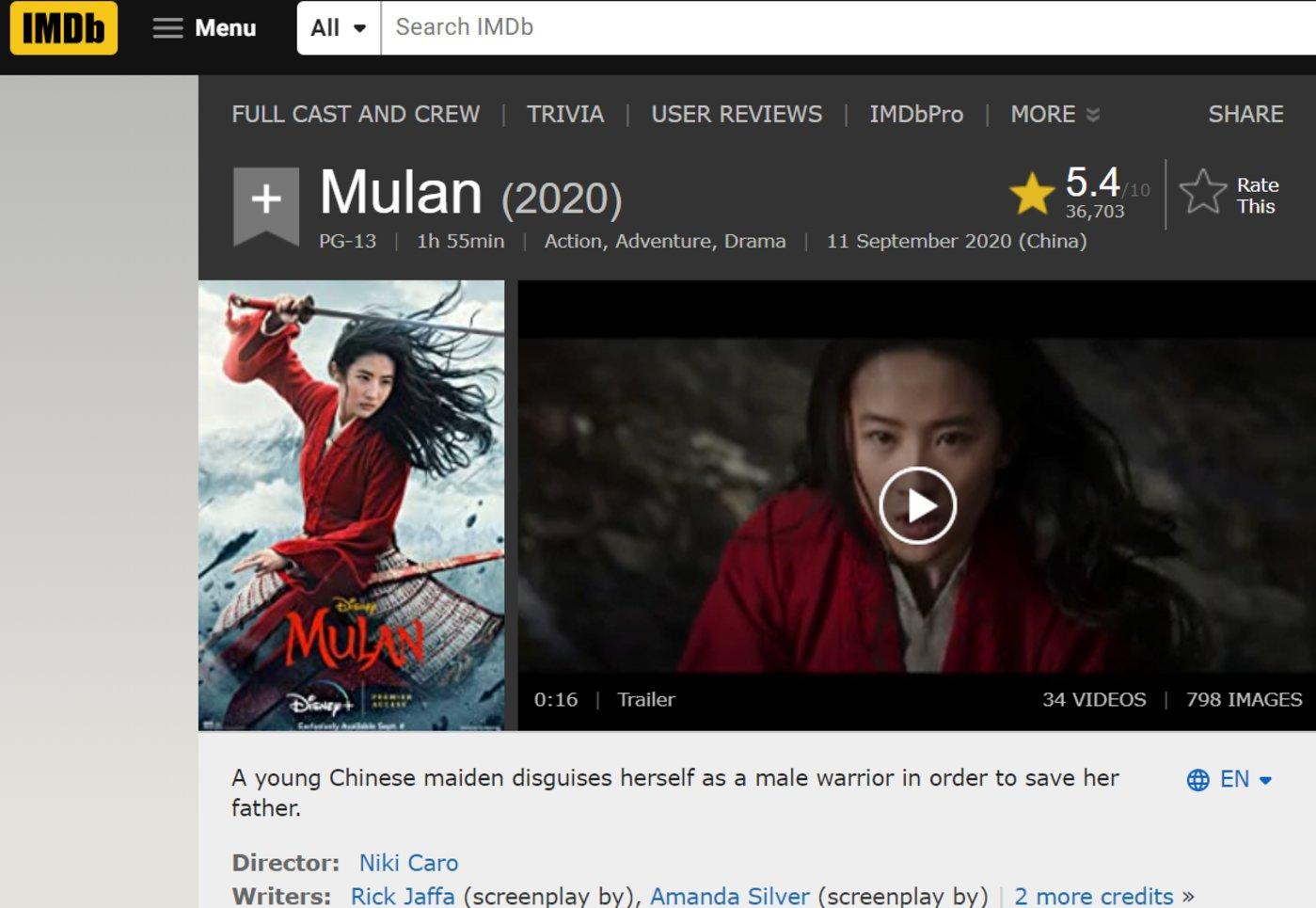imdb评分