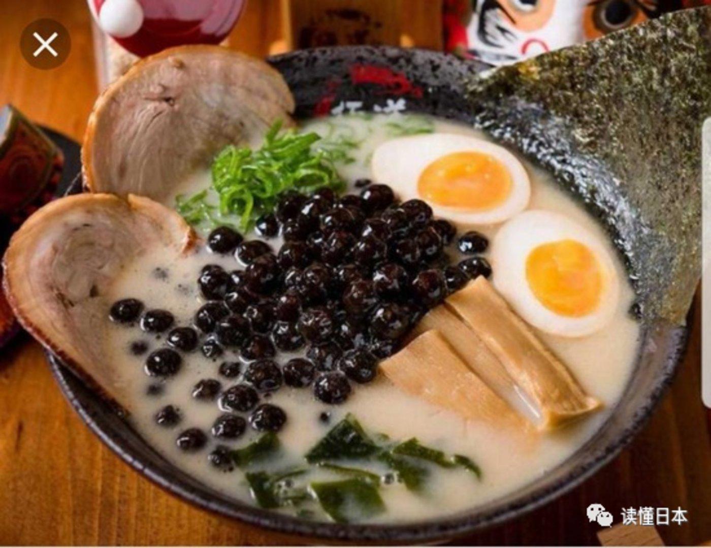 图 珍珠奶茶拉面(图源:http://taiwanwind.jp/)
