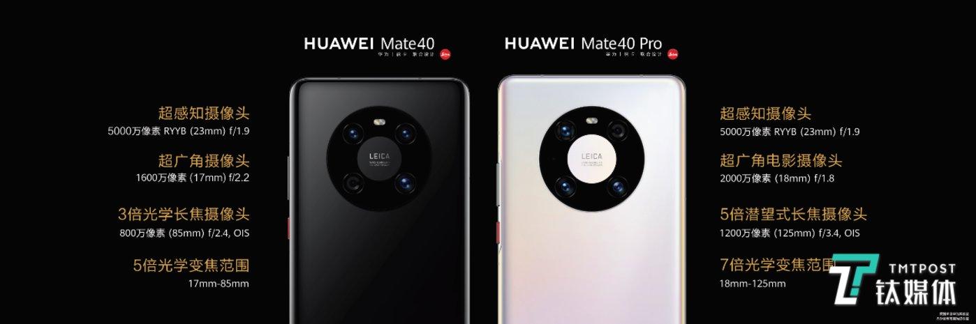 Mate40&Mate40 Pro摄像头规格