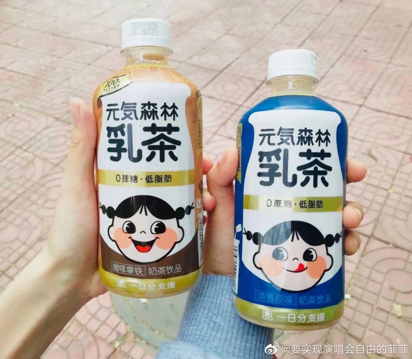 元气森林推出的奶茶饮品曾成为爆款