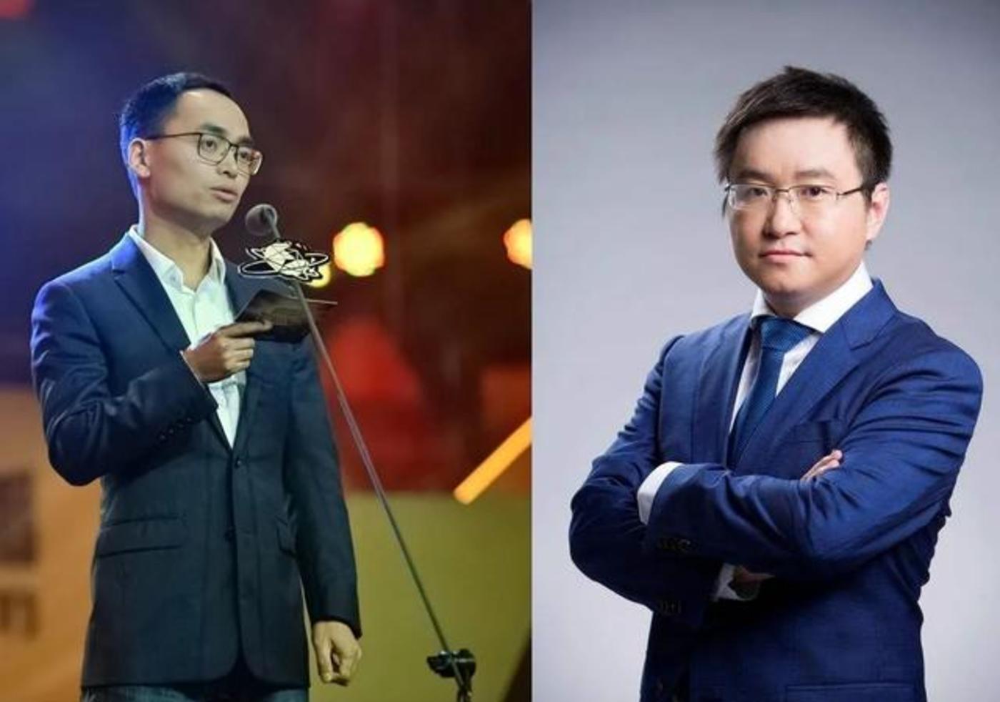 虎牙创始人董荣杰(左)、斗鱼创始人陈少杰(右)