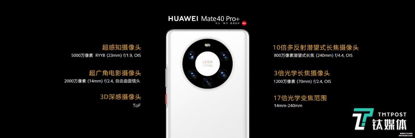 Mate40 Pro+摄像头规格