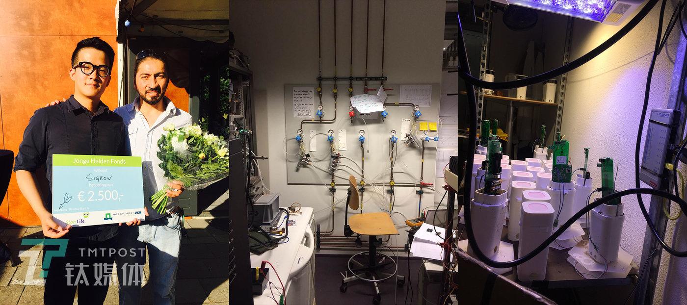 郝亦成在在瓦赫宁根大学期间的实验项目。