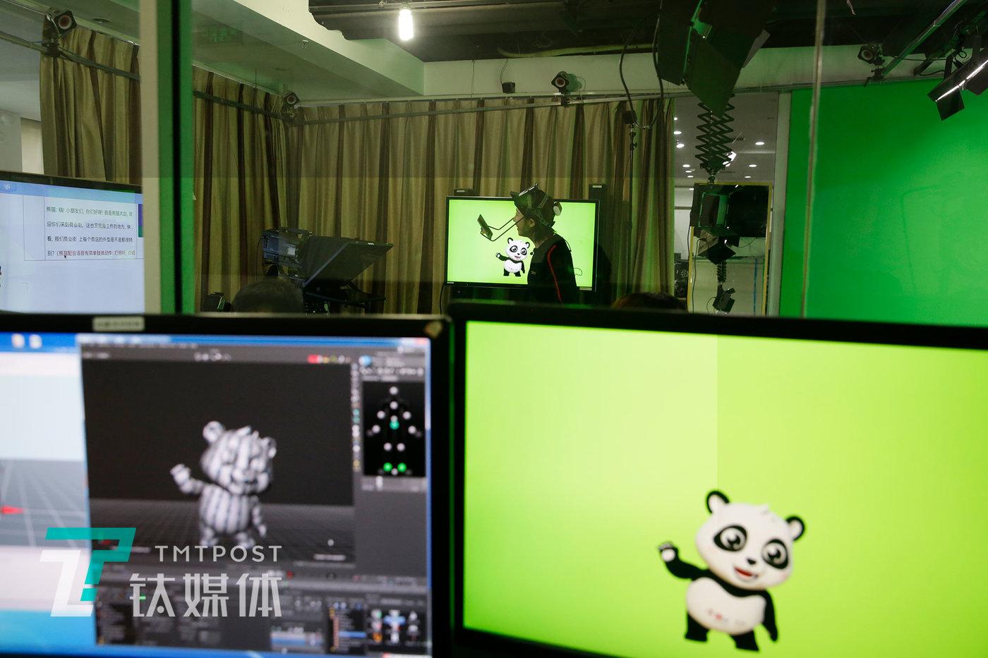后台系统里,莫妮卡扮演的卡通形象。