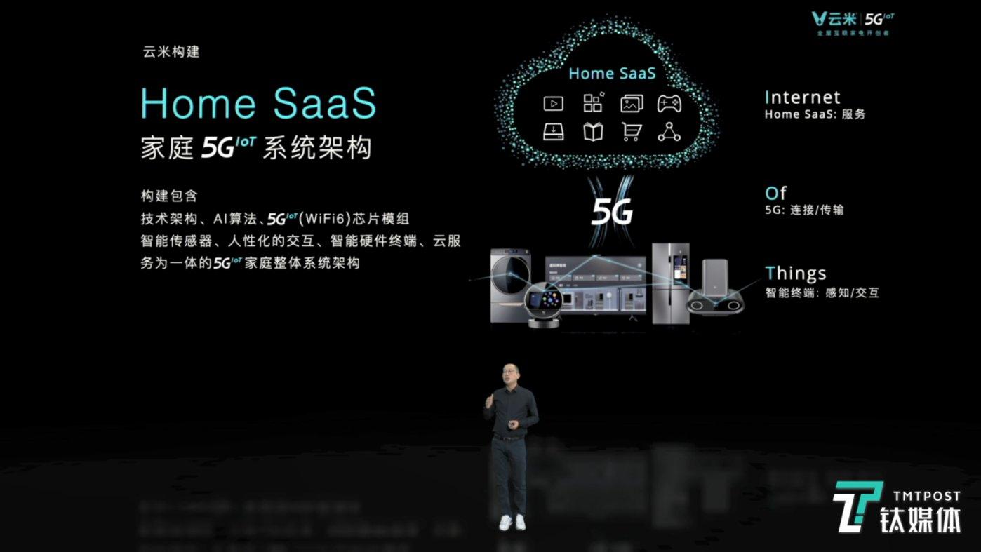 云米Home SaaS 5GIoT系统架构