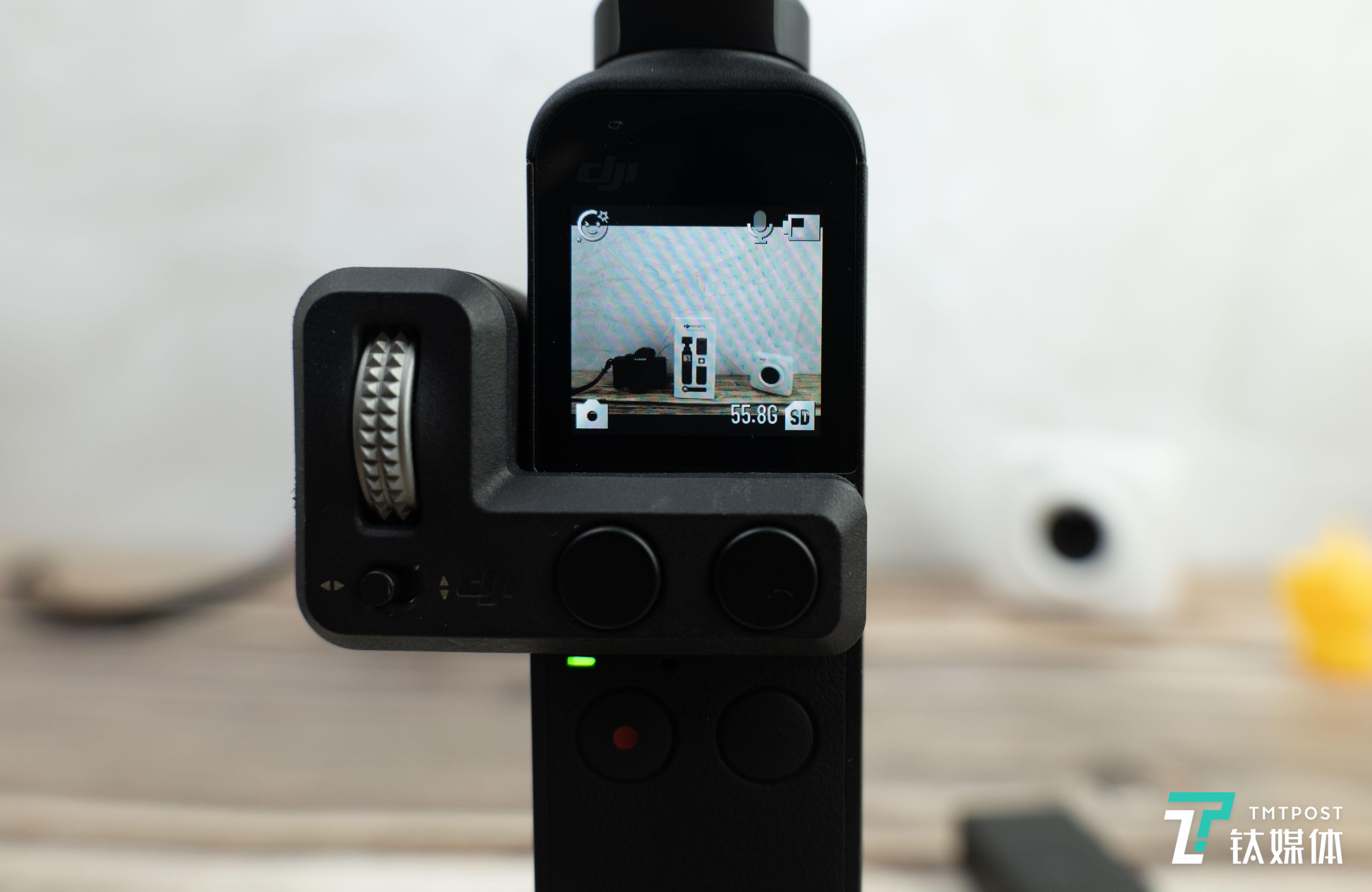 Pocket 2未安装增广镜(注意画面边缘的小黄鸭)