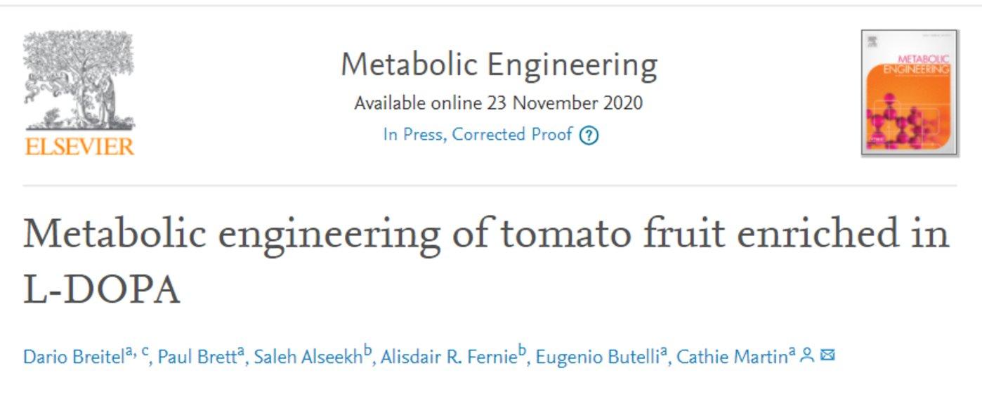 来源:Metabolic engineering