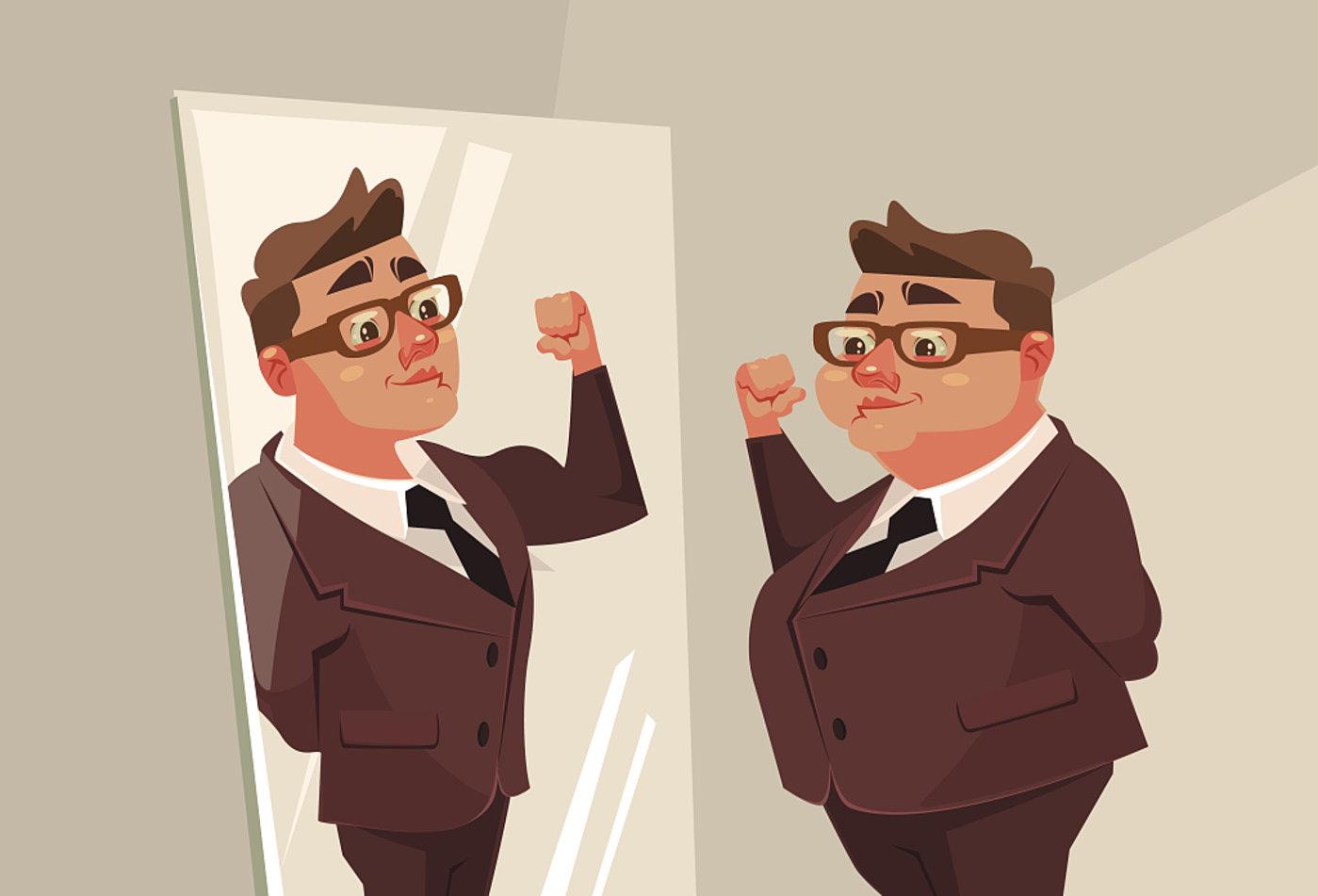 自恋照镜子