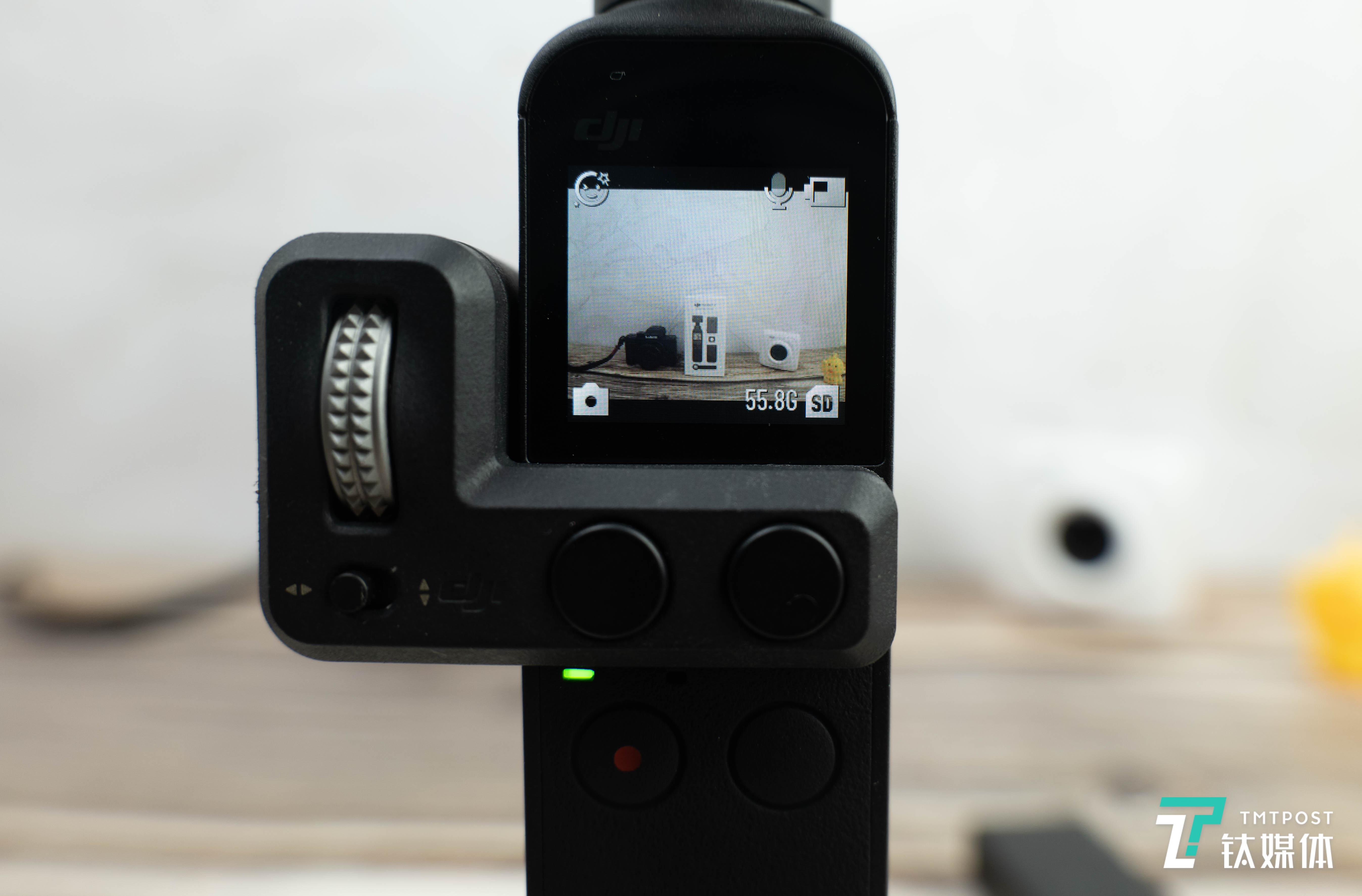 Pocket 2安装增广镜(注意画面边缘的小黄鸭)