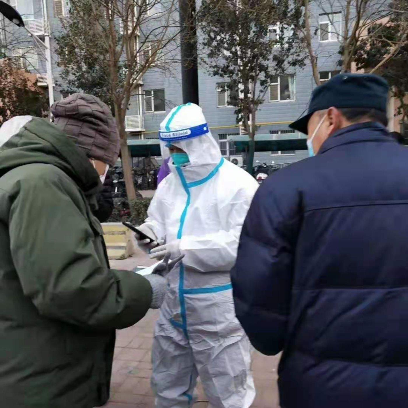 石家庄市小区居民正在进行第一轮核酸检测