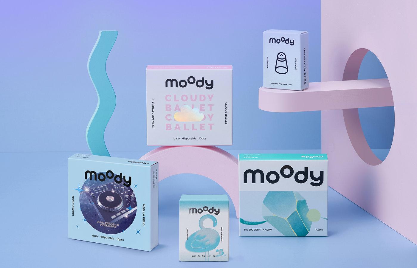 "moody""蓝色全家福"""