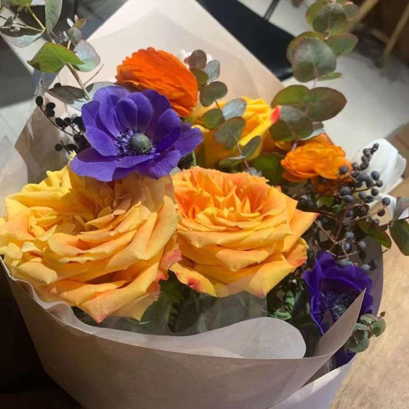 小杨春节期间买到的花束