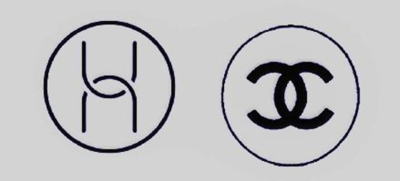 华为Logo(左),香奈儿Logo(右)
