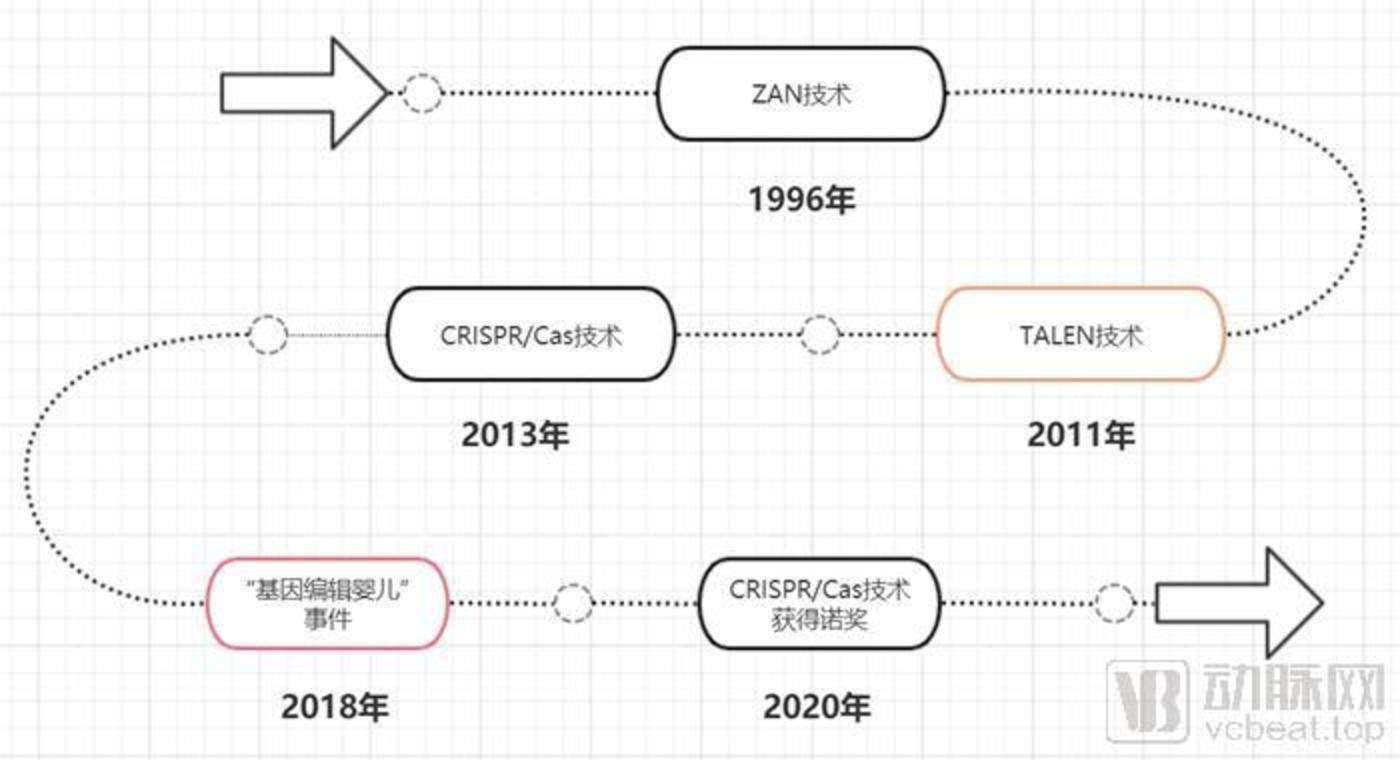 基因编辑技术发展流程