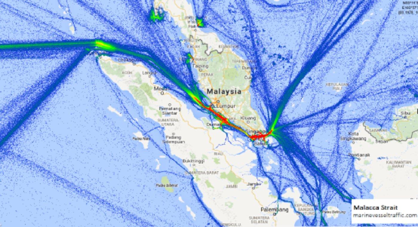 马六甲海峡卡住中国能源安全的脖子