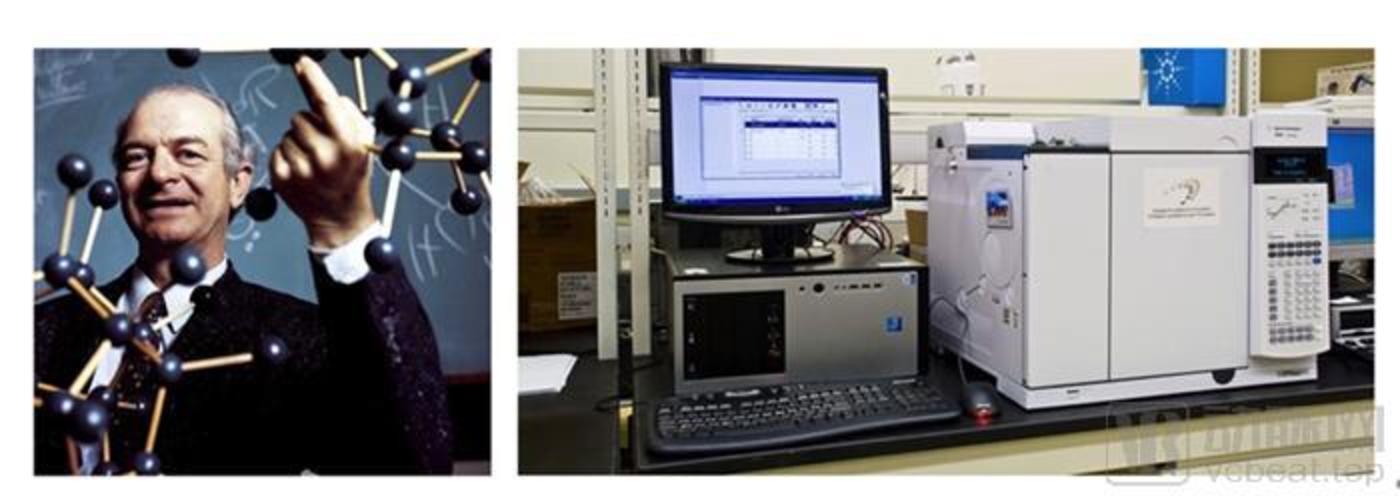 诺贝尔奖得主美国化学家莱纳斯·鲍林(Linus Pauling)与检测呼气VOC的气相色谱仪