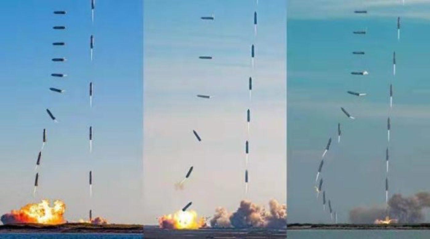 马斯克笑开花,SpaceX星舰万米高空飘下完美着陆