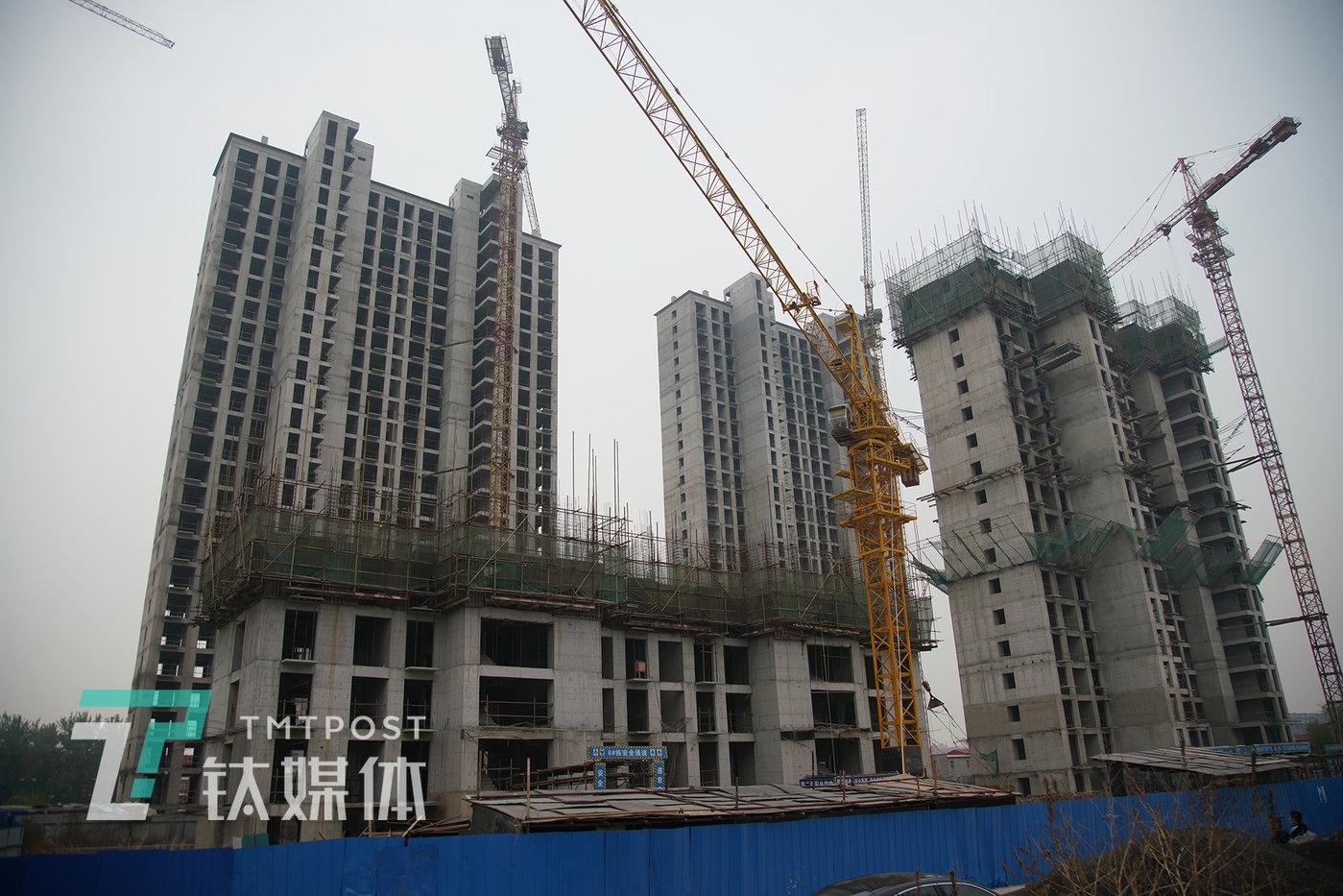 2021年4月12日,卓悦城二期工地。