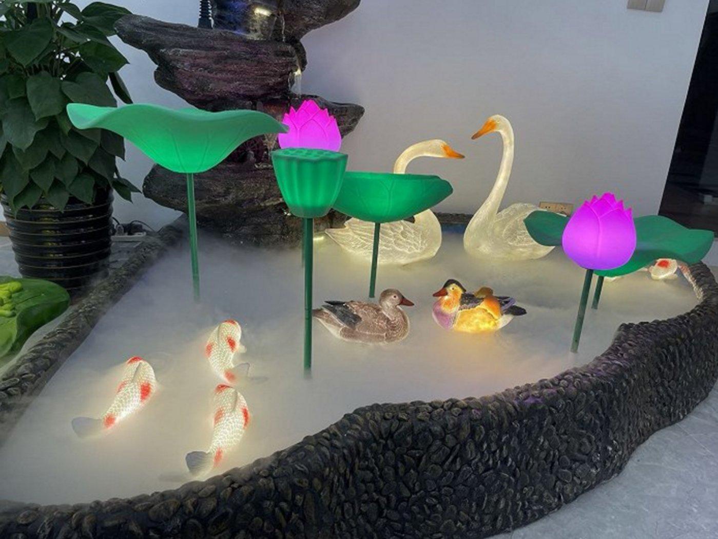 戈雅光电的户外灯饰产品。拍摄:徐诗琪