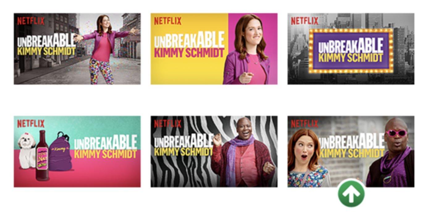 强表现力的海报(右下)效果更好 来源:Netflix科技博客