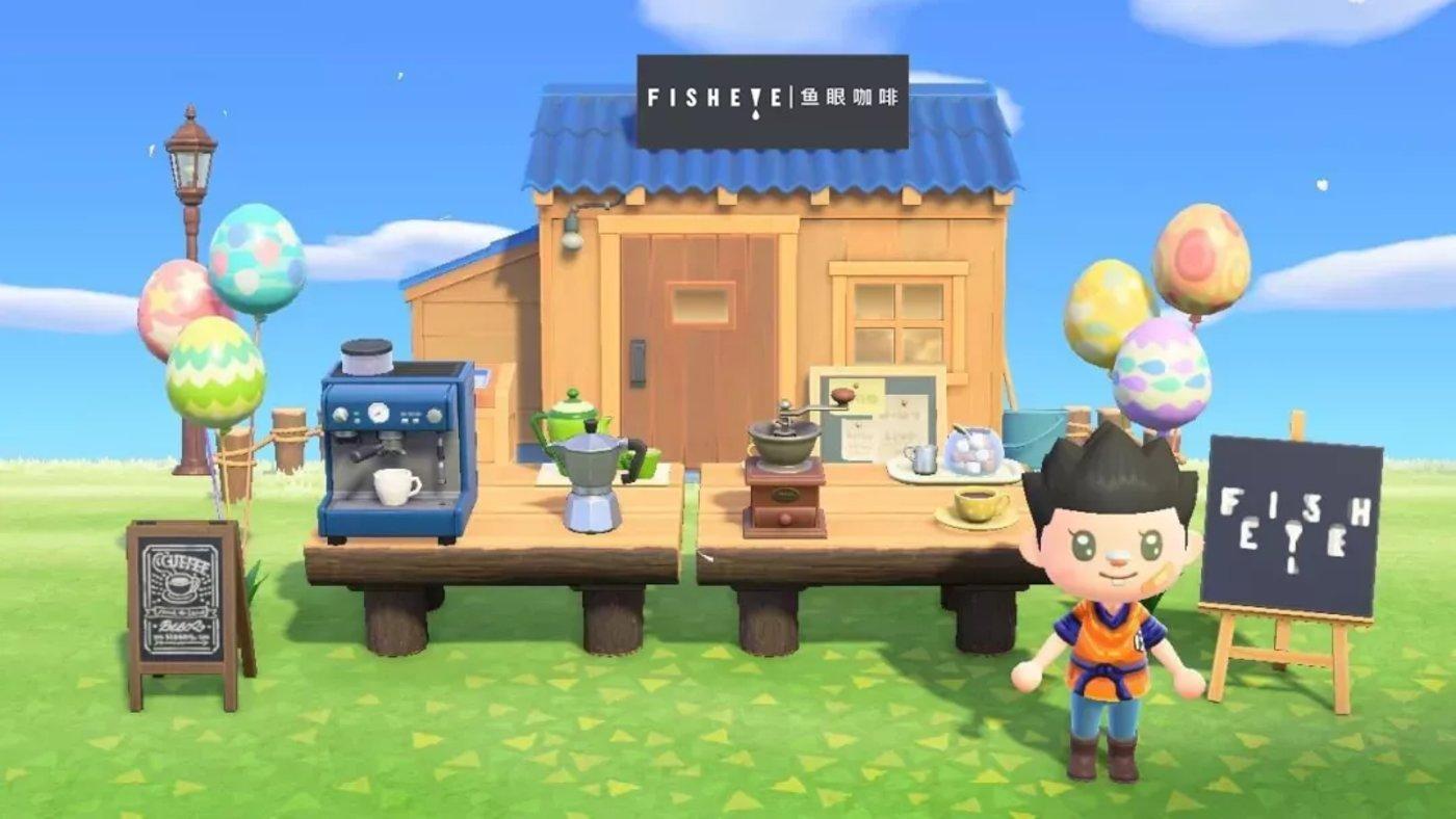 鱼眼咖啡植入爆款游戏《动物森友会》