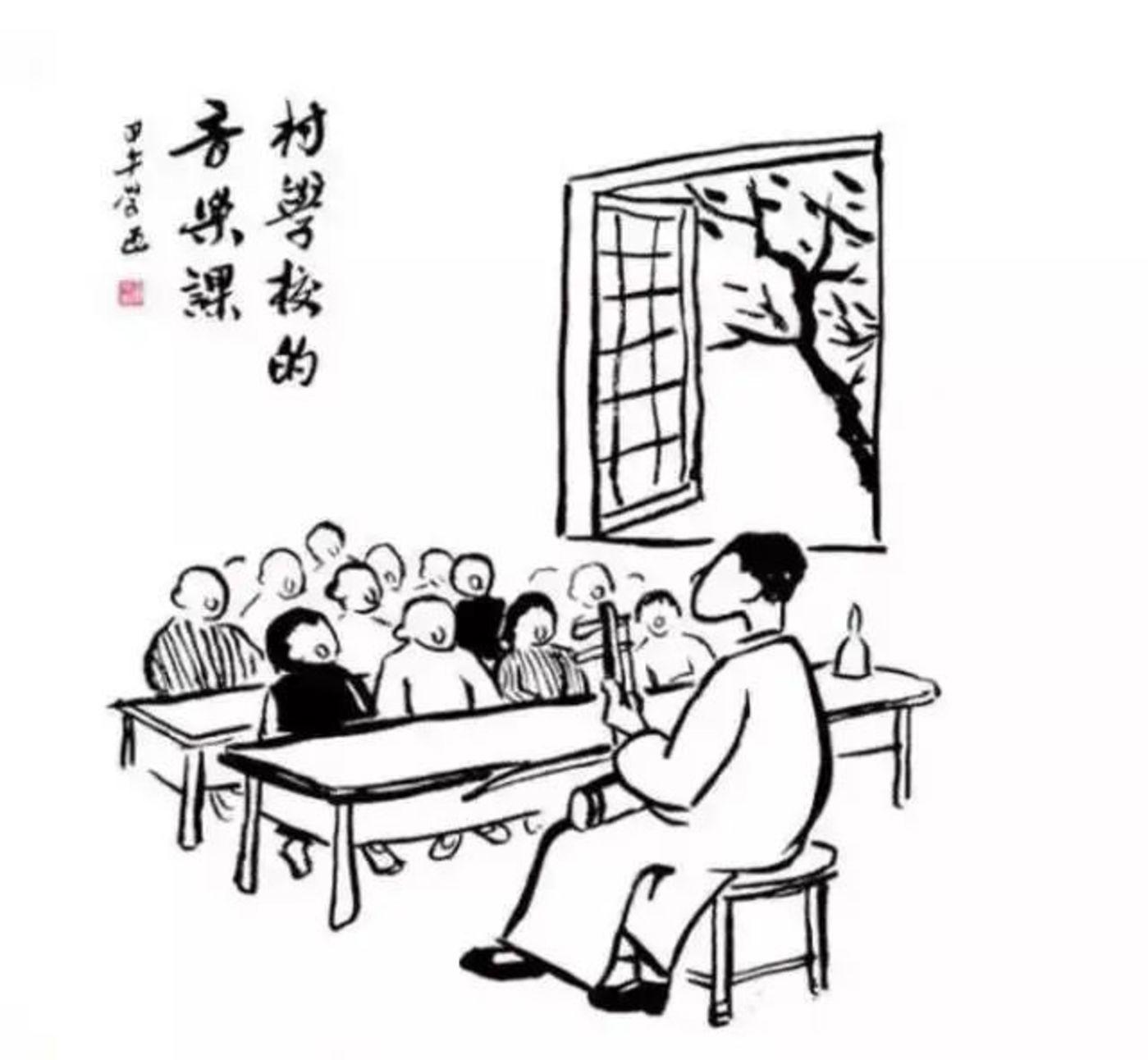 (丰子恺的画确实有皮没脸)