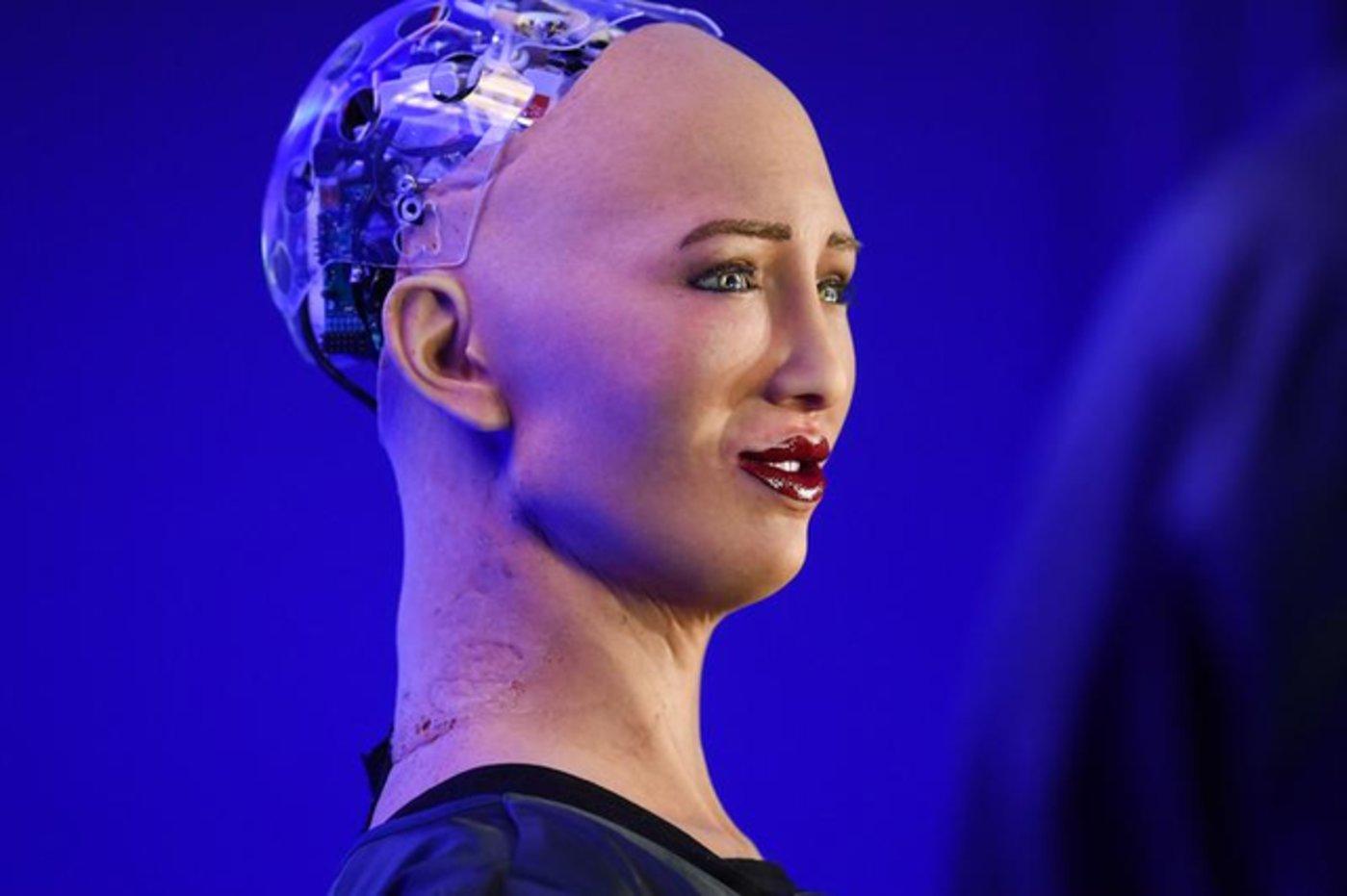 香港Hanson Robotics的机器人索菲亚