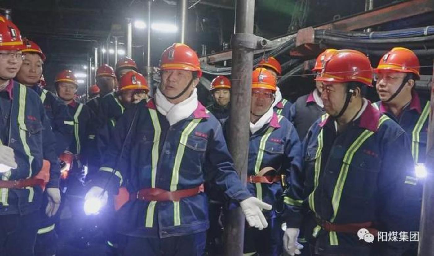 任正非在山西煤矿(2020年12月,图片来自阳煤集团)