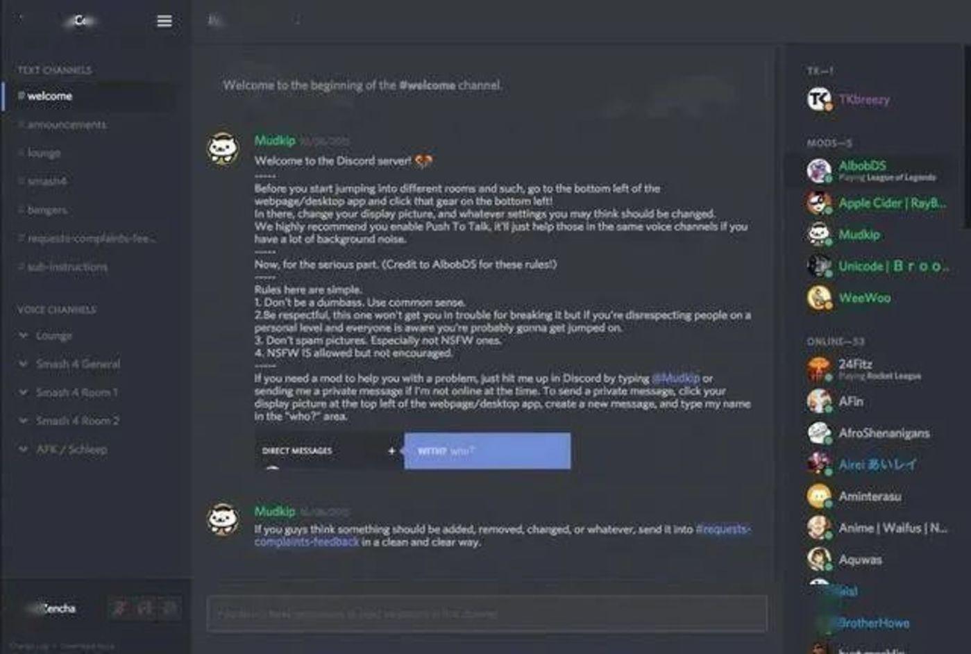 Discord应用内截图