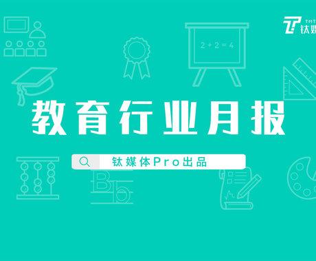 8月「教育行业」共收录46起融资项目,资金流向素质教育、职业教育|钛媒体Pro月报