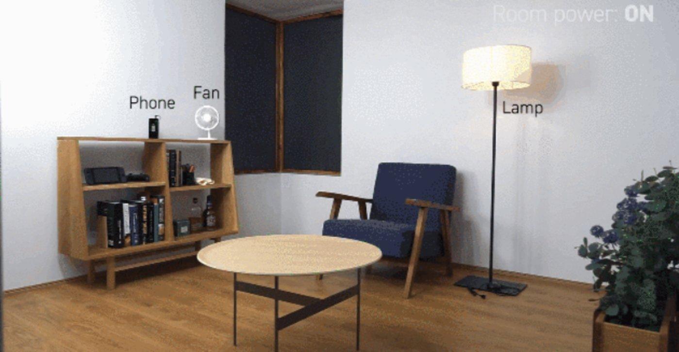 把整个房间转变成无线能量传输系统,图片来源@Nature Electronics)