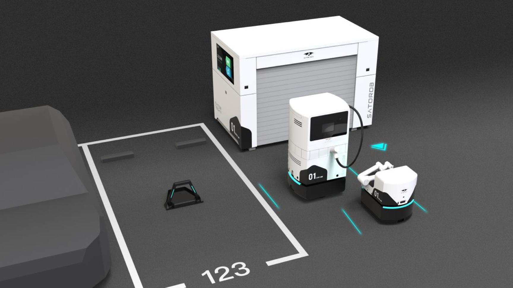 停车辅助单元PSU(左图)移动充电机器站(右图)