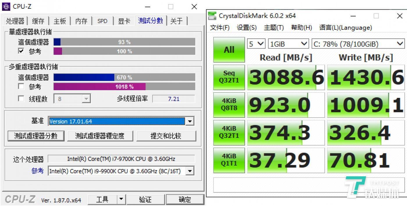CPU基准测试&硬盘读写测试