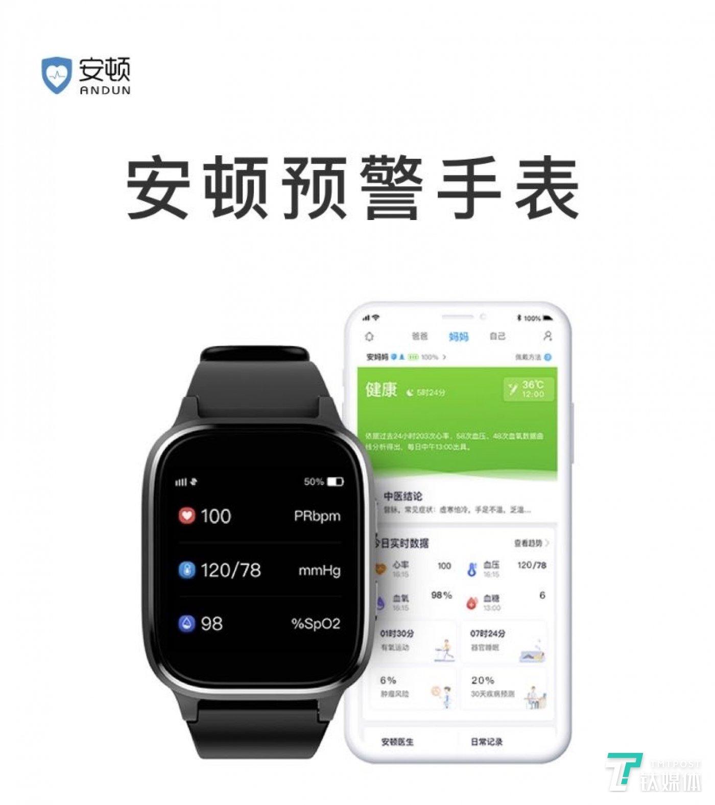安顿预警手表产品与App界面