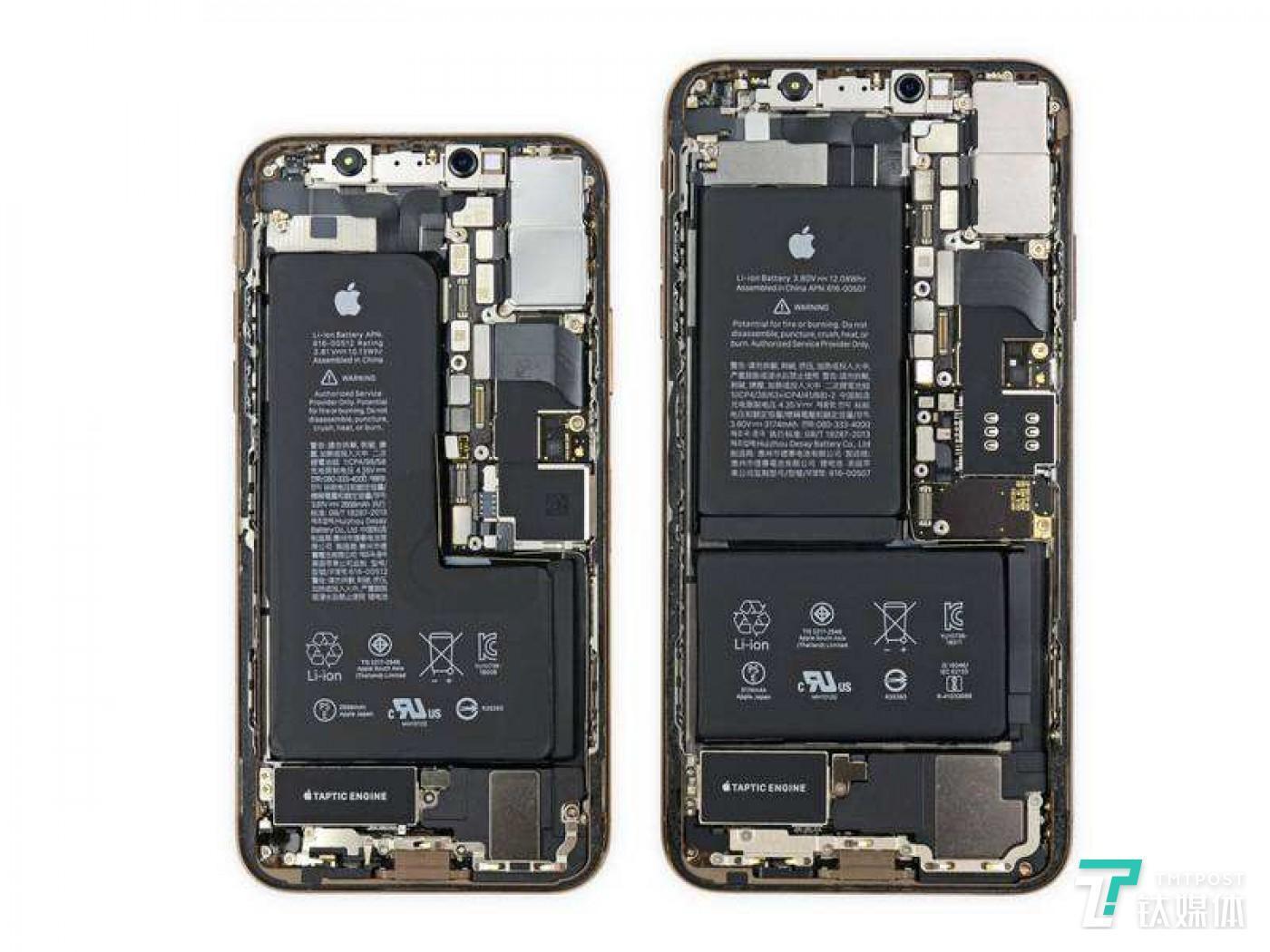 iPhone XS/XS Max双主办结构