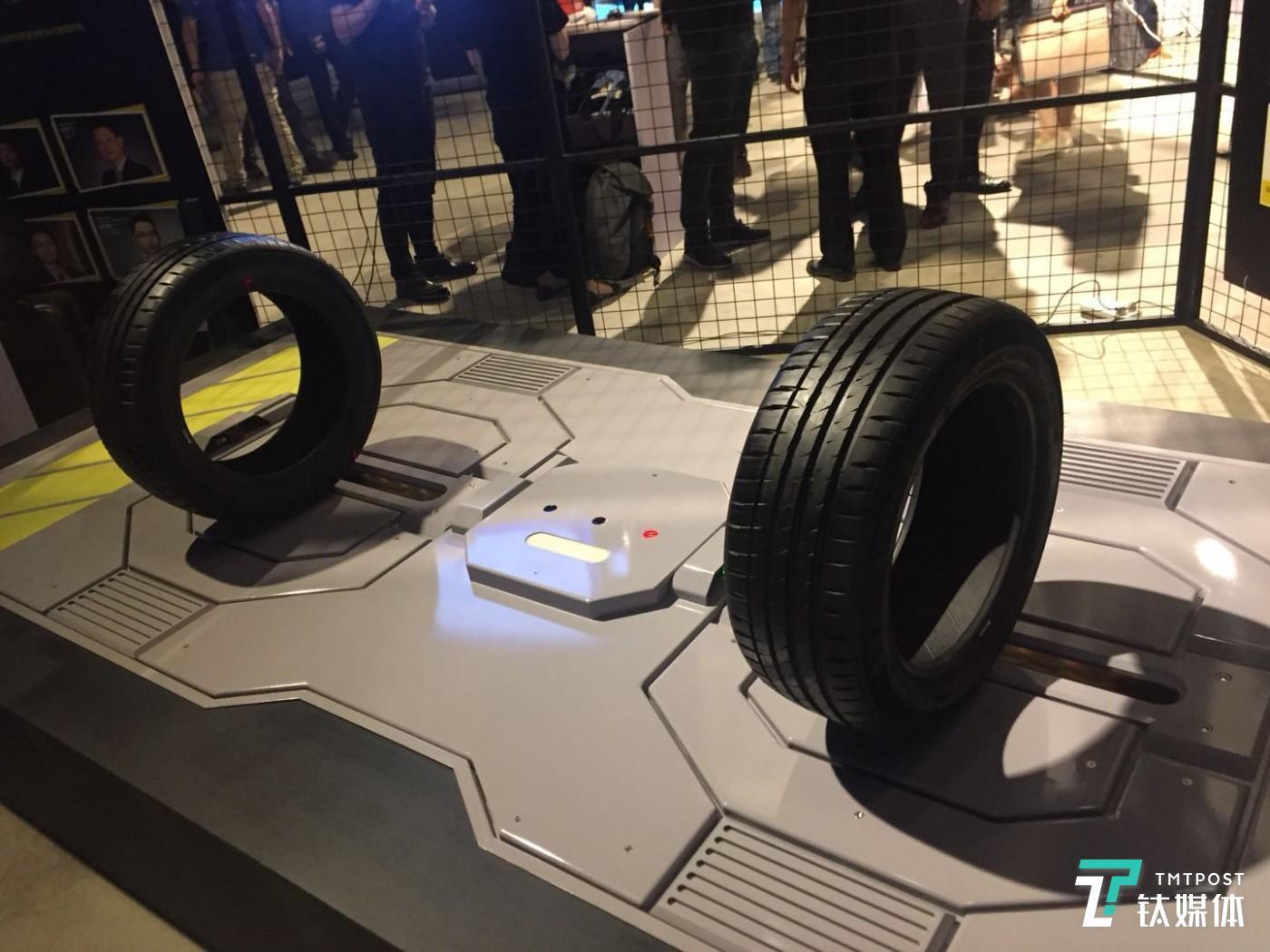 """泰哈珀智能轮胎检测,基于云服务平台的""""X-Treads轮胎智能检测硬件"""",自动化检测轮胎花纹深度及四轮定位的诊断,车主只需驾车缓慢通过该硬件设备,可以立即获取自己车的轮胎检测报告。"""