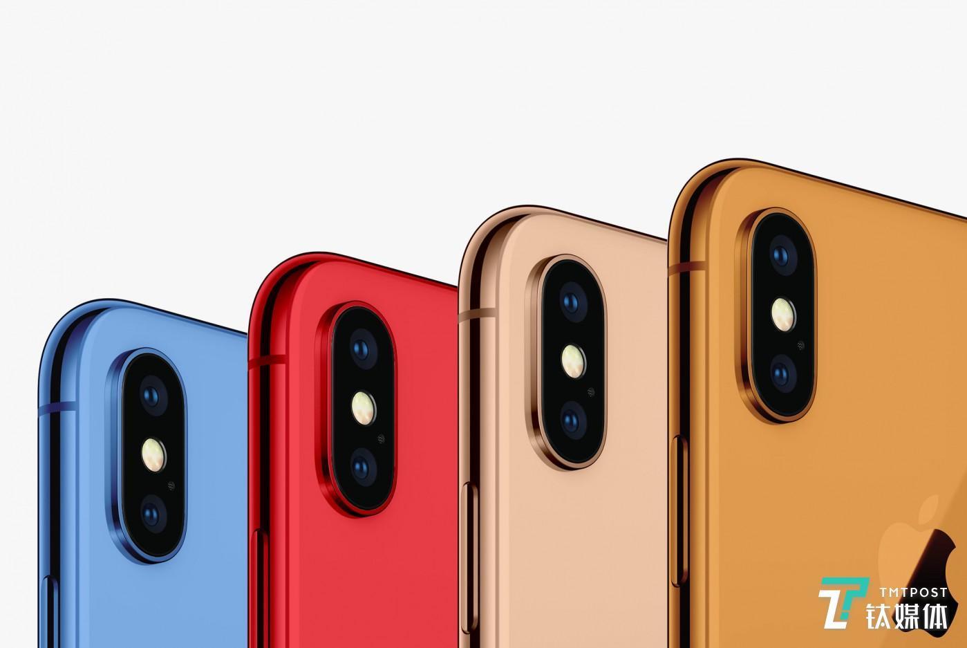 iPhone Xs 配色渲染图