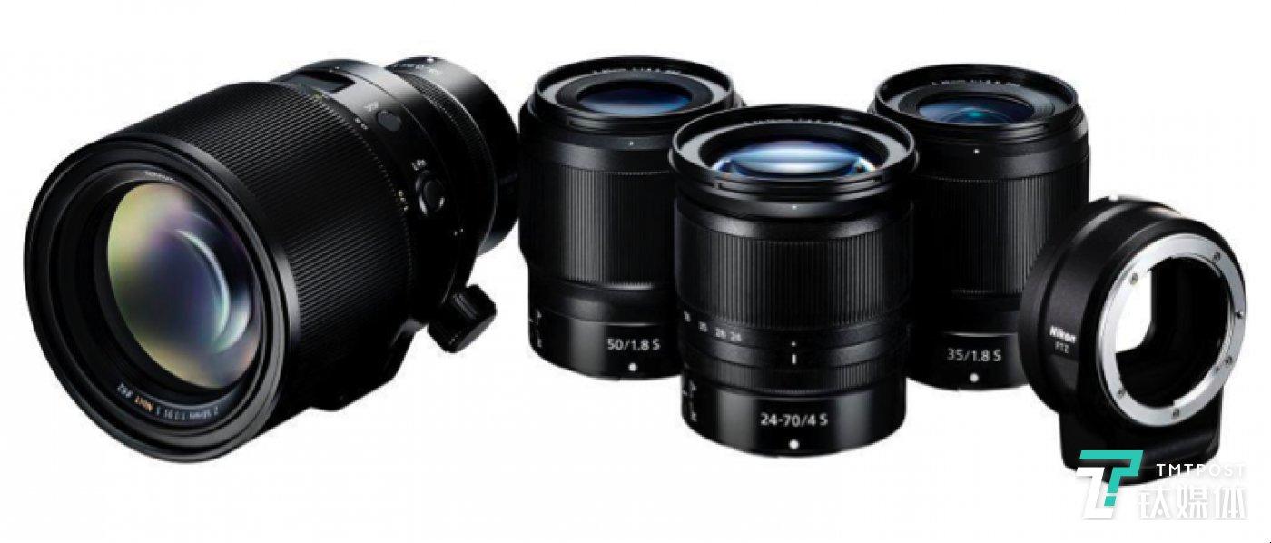 一同发布的三支镜头和卡口适配器