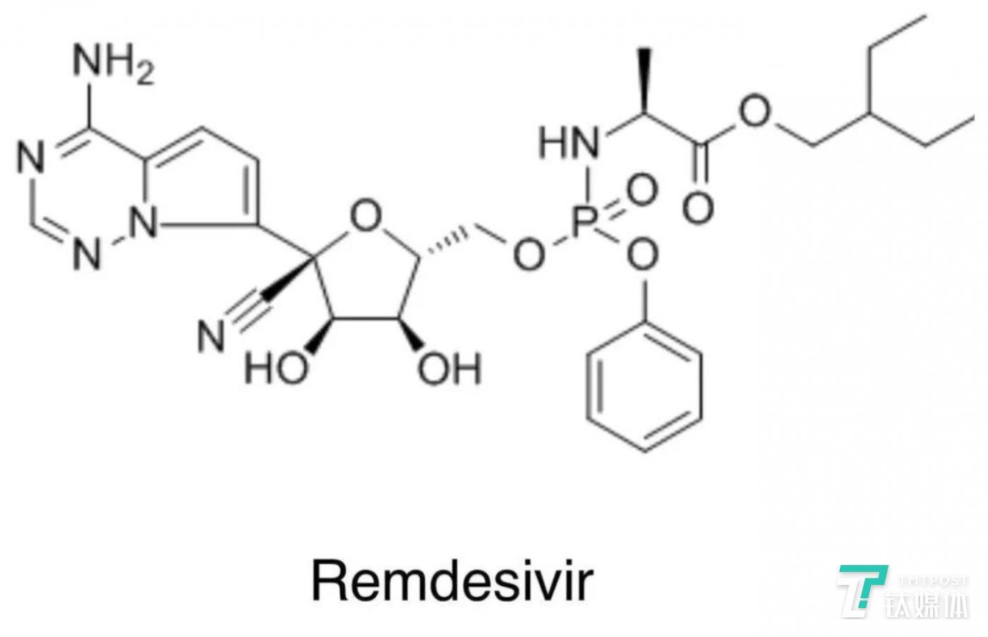 瑞德西韦化学结构图