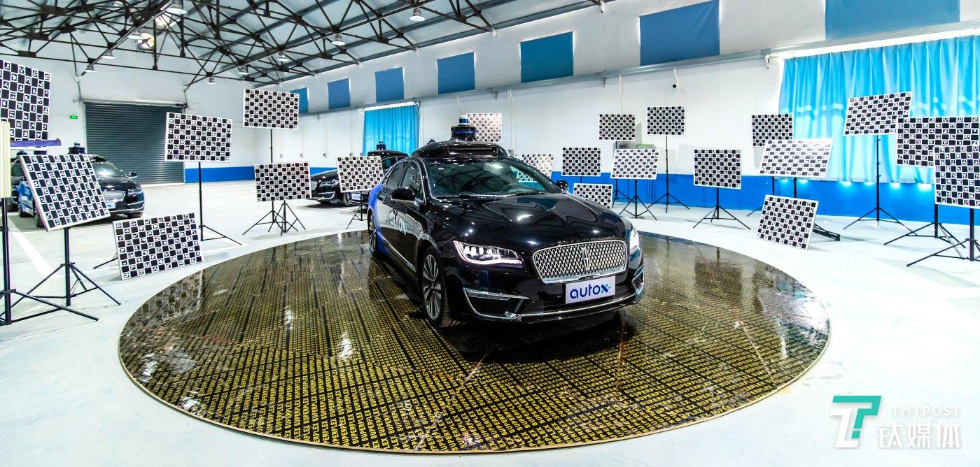 AutoX上海RoboTaxi无人车运营大数据中心一侧