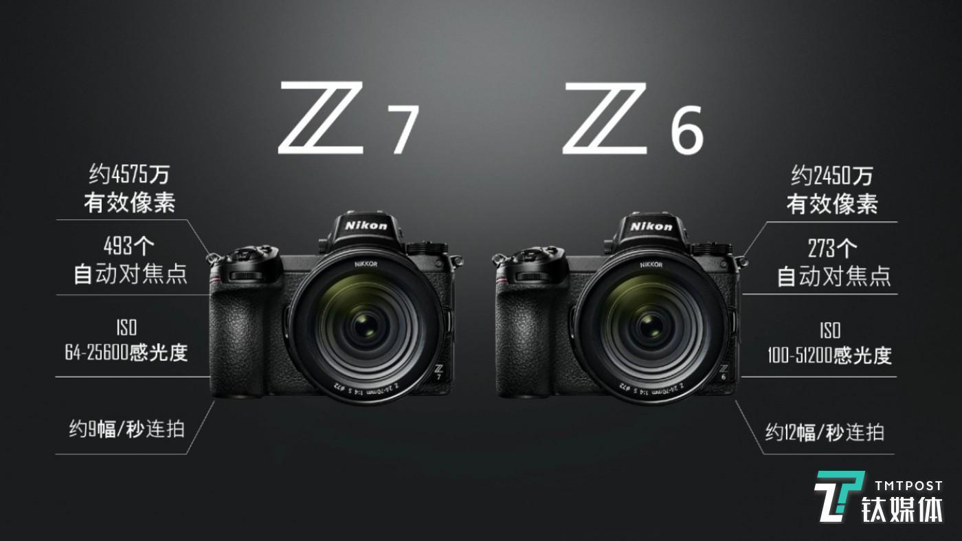 尼康全画幅无反相机Z7与Z6产品特点