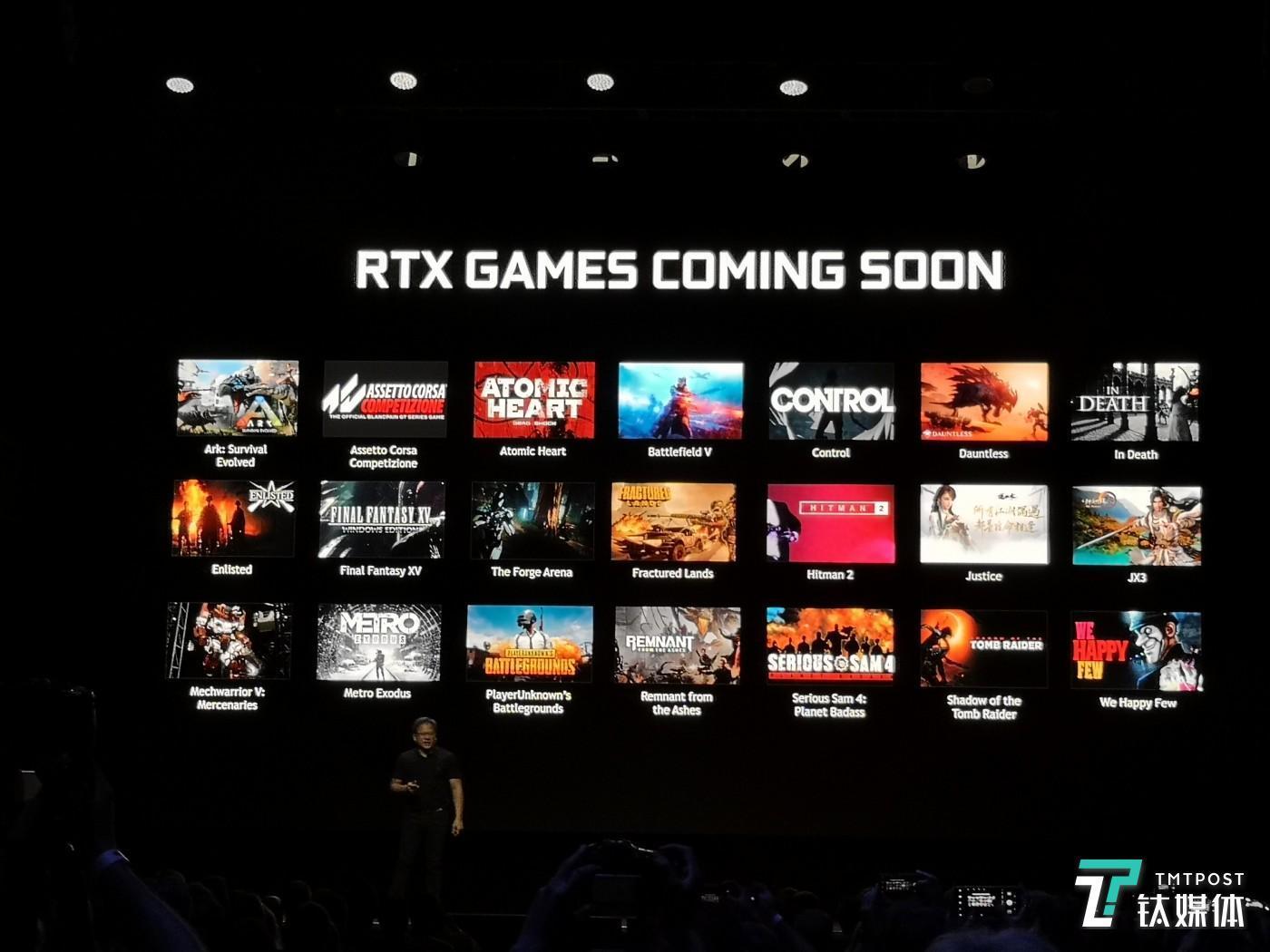 目前宣布支持RTX显卡的游戏