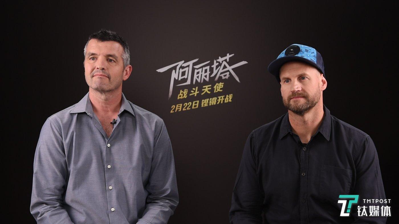 维塔数码动画总监Mike(左)和视效总监Eric(右)