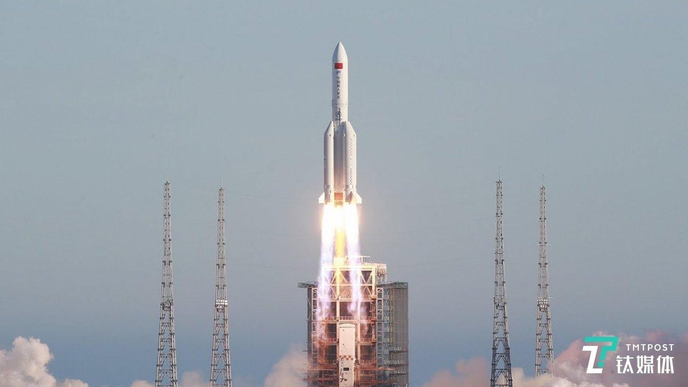 长征五号B运载火箭(来源:央视)