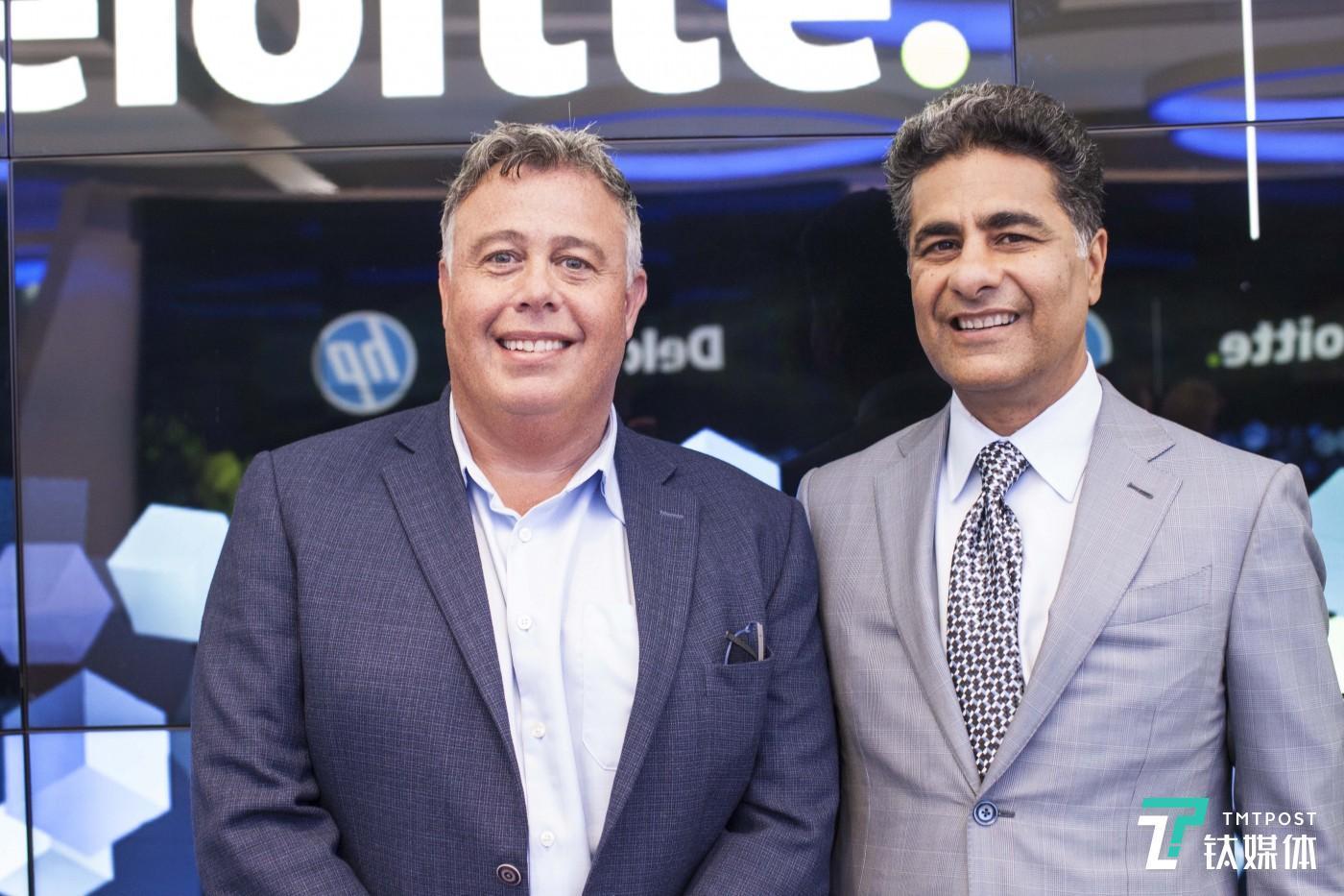 HP CEO Dion Weisler CEO Punit Renjen Deloitte Global CEO