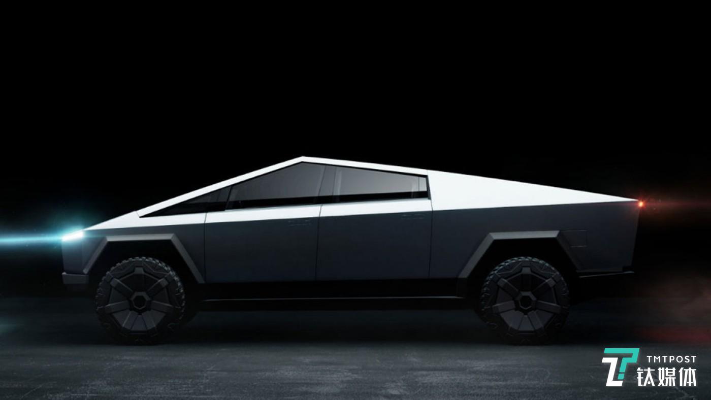 11月21日,美国加州Hawthorne,特斯拉在美国洛杉矶总部正式发布了旗下首款纯电动皮卡Cybertruck。(图/特斯拉)