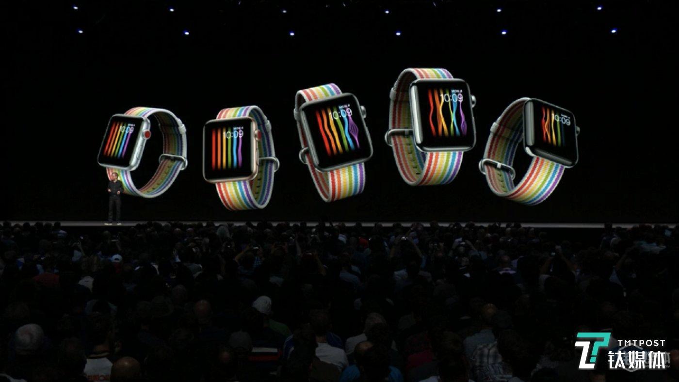 彩虹色表带,Apple Watch 果然是买表带送手表