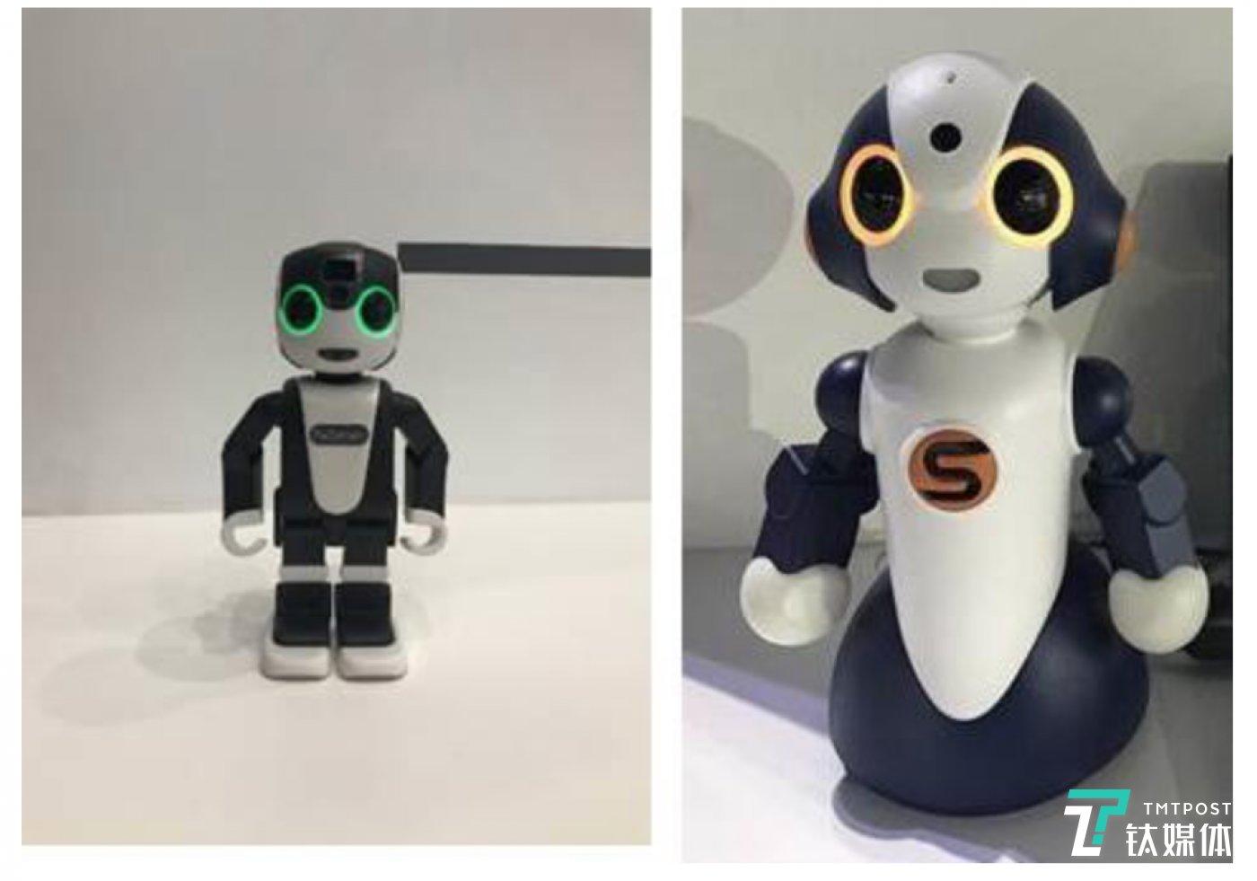 dxLab(电通传媒实验室)中的研发成果,包括智能手机和机器人组合RoBoHoN、护理机器人Sota