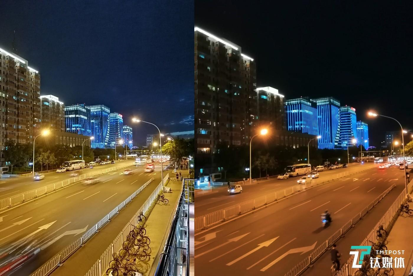 AI手持夜景与夜景模式样张对比